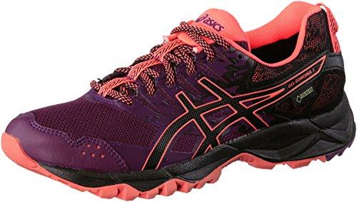 asics-damen-gel-sonoma-3-g-tx-traillaufschuhe-violett-dark-purple-black-flash-coral-415-eu