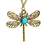 Beaux Bijoux Game of Thrones-Sansa Stark blu Firefly-Collana a catenina, colore bronzo, canzone di fuoco e ghiaccio