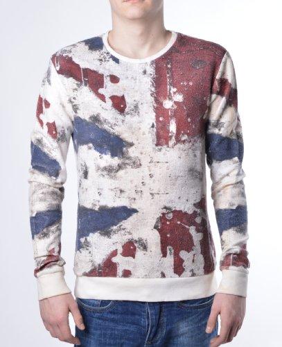 Religion Clothing - Union Jack Herren Sweatshirt - Weiß - Weiß, Small