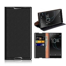 Funda Sony Xperia XA1 Ultra, Mobest Funda Cuero Sony Xperia XA1 Ultra, Funda Cartera, Funda Billetera, Carcasa en libro, Ranuras para Tarjetas, Soporte Plegable Para Sony Xperia XA1 Ultra - Negro