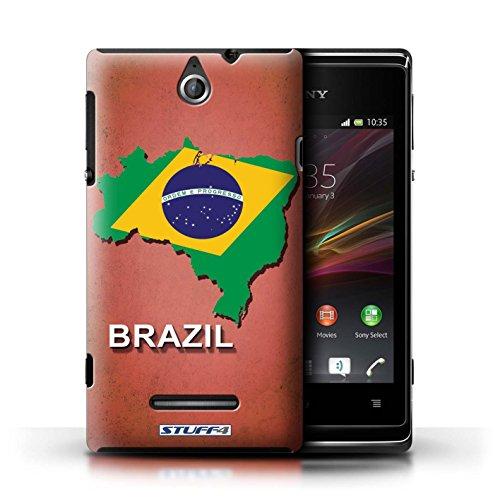 Kobalt® Imprimé Etui / Coque pour Sony Xperia E / Thaïlande/Thai conception / Série Drapeau Pays Brésil