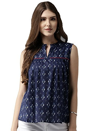 Amayra Women's Top (TCKTOP6-M, Blue, Medium)