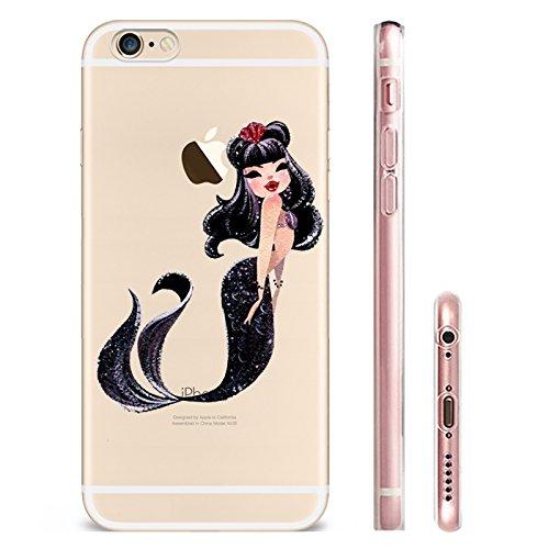 IPHONE 6splus Hülle Meerjungfrau Ananas Liebe Muster TPU Silikon Schutzhülle Handyhülle Case - Klar Transparent Durchsichtig Clear Case für iPhone 6splus MRY1