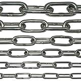 Edelstahl-Kette V4A lang-gliedrig von NietFullThings in vielen Längen und Stärken an einem Stück Anker-Kette Meterware rostfrei niro inox LANG