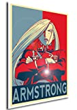 "Poster Full Metal Alchemist ""Propaganda"" Olivier Milla - FMA Formato A3 (42x30 cm)"