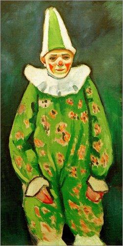 m: Clown in grünem Kostüm von August Macke / akg-images (Männliche Zirkus Kostüm)