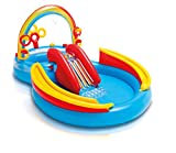 Intex Rainbow Ring Play Center - Kinder Aufstellpool - Planschbecken - 297 x 193 x 135 cm -  Für 3+ Jahre