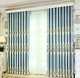 YXWcl Gardinen Europäischer Vorhang beendete Wohnzimmer vom Boden bis zur Decke Fenster Blackout Vorhänge einfache Moderne Schlafzimmer Erkerfenster Balkonfenster (Farbe : B, größe : 2x-w250*h270cm)