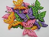 bb10 Schmuck Schmetterlinge aus Filz mit Klebepad in 12er Pack Dekoration aus Filz Streudeko Streuteile Tischdeko