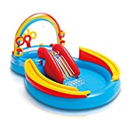 INTEX 57453 Rainbow Ring Play Center ,3 Years And Above, Multi Color