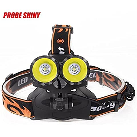 Koly 10000 Lumens 2*T6 LED Rechargeable Headlamp Head Torch+2*18650 Batteries+Charger