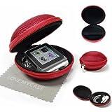 """Stylebitz / Stylebitz / Etui """"coquillage"""" pour Apple iPod nano 6ème génération, fermeture éclair, poche intérieure, extérieur ultra-résistant, avec chiffon de nettoyage (rouge)"""