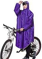 Icegrey Adult Lightweight PVC Long Size Hooded Raincoat Bicycle Cycling Rain Cape Poncho With Sleeves Light Purple 3XL