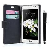 zStarLn® nior Luxe Portefeuille Etui Housse pour LG K7 X210 Coque en cuir + 3 Films en Stylet Touch Pen OFFERTS