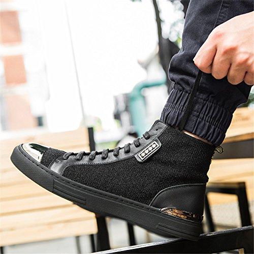 le scarpe di tela in autunno e inverno martin stivali black