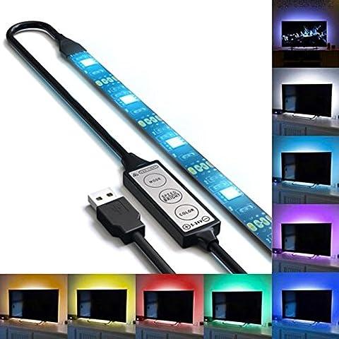 Rétro-éclairage à LED pour TV Ruban LED USB - 27 LED Bande LED RGB