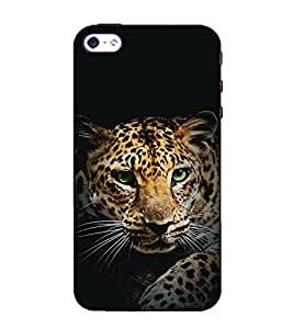 Fuson Designer Back Case Cover for Apple iPhone SE (The tiger theme)