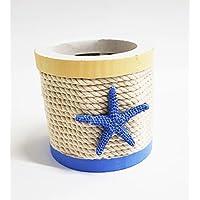 takestop Portalápices Redondo Marino Estrella Mar Cuerda de Escritorio 9 x 8.6 cm Porta bolígrafos Vaso