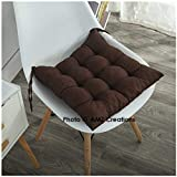 #6: AMZ SHOPPERS Premium Microfibre Cotton Chair Cushion Seat Pad for Indoor Outdoor Dining Home Office Garden Decor,15x15-inch (Brown)