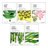 The Face Shop Unisex Real Nature Hydrating Masksheet Combo (Pack of 5)