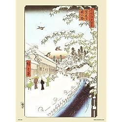 onthewall Hiroshige Póster de japonés Atagoshita y Yabu Lane (PDP 41)
