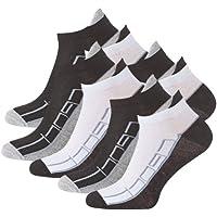Lot de 8 paires de socquettes - coton et élasthanne - talon ajusté et inscription Sport - pointe remaillée main - bicolore