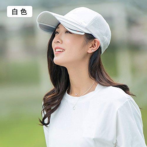 LLZTYM Chapeau/Femme/Été/Casquette De Baseball/Femme/Suncap/Suncap/Cap Soleil/Tête/Cadeau/Cadeau white