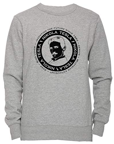 Homme Shirt Nikola S Femme Small Size Over Tesla Grey Jersey Erido Sweat Taille Sweatshirt Women's Pull Men's Unisexe Gris uikPZX