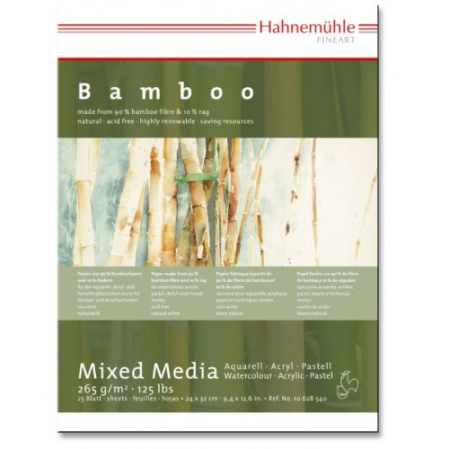 Mixed Media Block Bamboo 265g/m², 24x32cm, 25Blatt (Mixed-media-art-techniken)