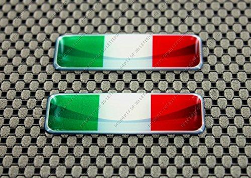 Italien Flagge 3d Domed Aufkleber Set