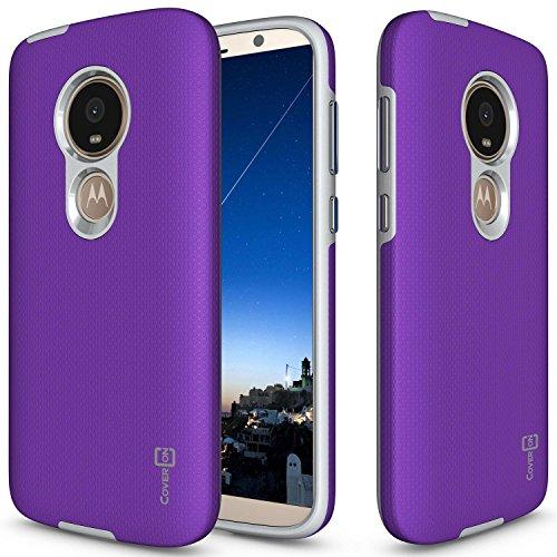 Moto E5Play Schutzhülle, Moto E5Cruise Fall, coveron [Robuste Series] Schutz Hybrid Handy Cover mit Metallic-Tasten für Motorola Moto E5Play/Moto E5Cruise, violett (Kind Handys Att)