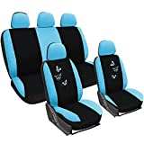 Best Car Seat Covers - WOLTU AS7244 Universal Black/Blue Car Seat Covers 5 Review