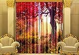 H&M Gardinen Vorhang Mangrove eine warme Schatten Tuch UV-Druck 3D dekoriert Schlafzimmerfenster Vorhänge fertig , wide 2.03x high 2.13
