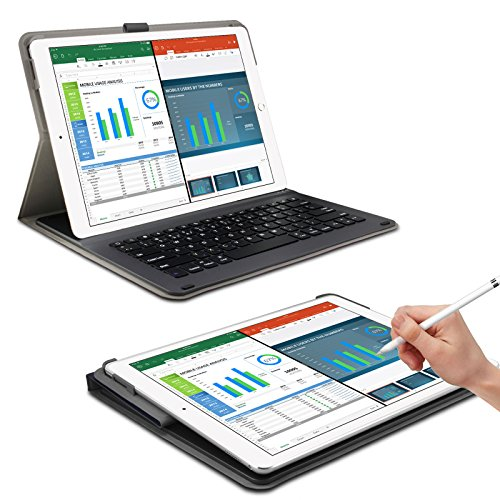 ipad pro 12 9 zoll keyboard h lle case mit apple pencil halter infiland bluetooth tastatur. Black Bedroom Furniture Sets. Home Design Ideas