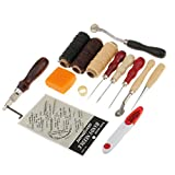 MagiDeal 13er Leder Nähen Set, Nützliche Leder Werkzeu Überstich Ahle Werkzeug Pin Sewing Maschine Drucktuch Rad/Einrollscheibe/Scriber/Scanlinie