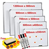 MAGNETIC WHITEBOARD DRY WIPE DRAWING OFFICE SCHOOL KIDS NOTICE HANGING MEMO NEW (60CM X 90CM)