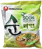 Nong Shim Fideos Instantáneos, Vegano - 20 Unidades