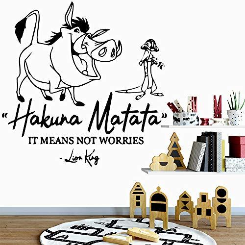 yaoxingfu Nordischen Stil Wildschwein Aufkleber Dekoration NordischenstilDekoration Für BabyKinderzimmerDekor Abnehmbare Wand De58 cm X 58 cm