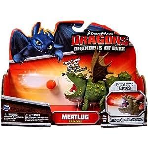 DreamWorks Dragons Defenders of Berk - Action Dragon Figure - Meatlug Gronckle by Spin Master TOY (English Manual)