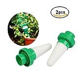 Kyerivs Keramik Automatische Pflanzen Bewässerungssystem Zimmerpflanzen Wasserspender Kegel Tropf für Garten,Zimmerpflanze,Blumen 2 er-Set