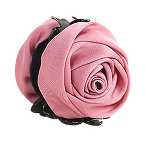 un Belles Clips Rose Fleur Cheveux Ponytail clip, rose foncé