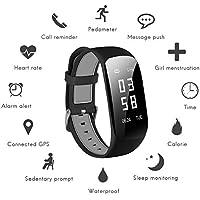Fitness Tracker Surenhap Fitness Armband, Smartwatch Wasserdicht IP67 HR Unisex mit Herzfrequenz/Schlafanalyse/Kalorienzähler Aktivitätstracker usw. mit Pulsmesser Android IOS(Schwarz)