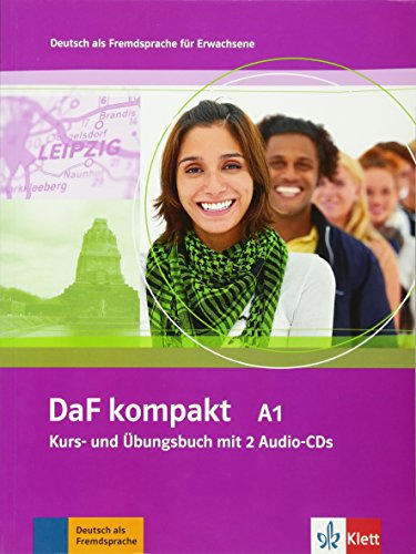 DaF kompakt A1: Deutsch als Fremdsprache für Erwachsene. Kurs- und Übungsbuch + 2 Audio-CDs