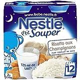 Nestlé p'tit souper risotto aux champignons 2 x 250g dès 12 mois - ( Prix Unitaire ) - Envoi Rapide Et Soignée
