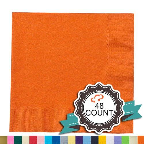 (Tiger Chef 2lagig gefärbtes Papier Getränke Servietten–Hochzeit, Deko, Party Servietten, papier, Orange, 9.875 inch)