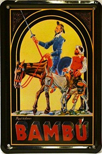 Art Escudellers Imán Cartel Poster publicitario de chapa metálica con diseño retro vintage de Catalunya/España. Tin sign. 11 cm x 7,3 cm (BAMBU QUIJOTE)