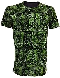 Marvel Comics Incredible Hulk Adult Male Classic Green Comic Strip T-Shirt, Extra Extra Large, Green/Black (Ts210805mar-2Xl)