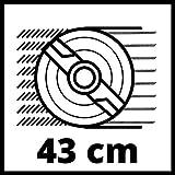 Einhell Akku Rasenmäher GE-CM 43 Li M Kit (Lithium-Ionen, 18 V, 4000 mAh, Schnittbreite 43 cm, 6-fache Schnitthöhenverstellung 25-75 mm, Fangbehältervolumen 63 l, inkl. 2 Akkus) - 10