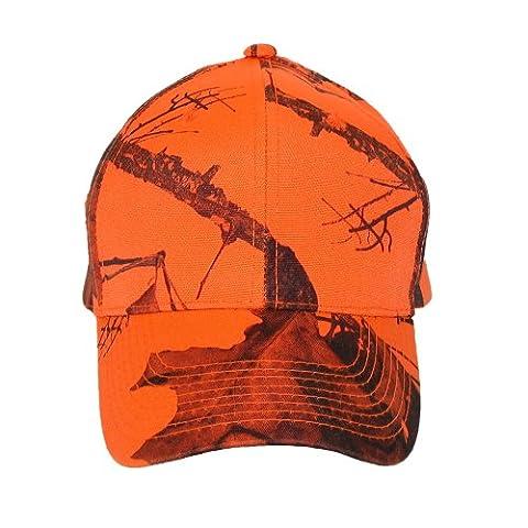 CTM-Mossy Oak-Break-Up Casquette de Baseball Orange flammes - Orange -