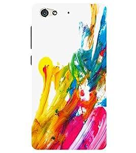Chiraiyaa Designer Printed Premium Back Cover Case for Gionee S6 (water color strokes) (Multicolor)